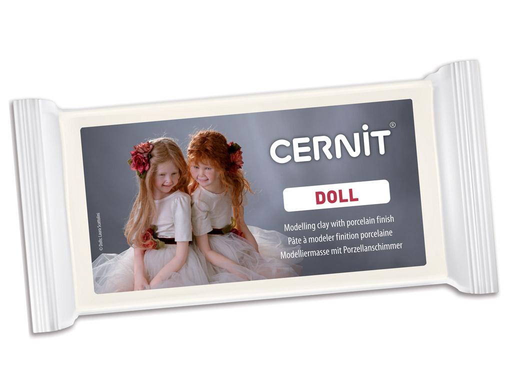 Polimerinis molis Cernit Doll 500g 010 white