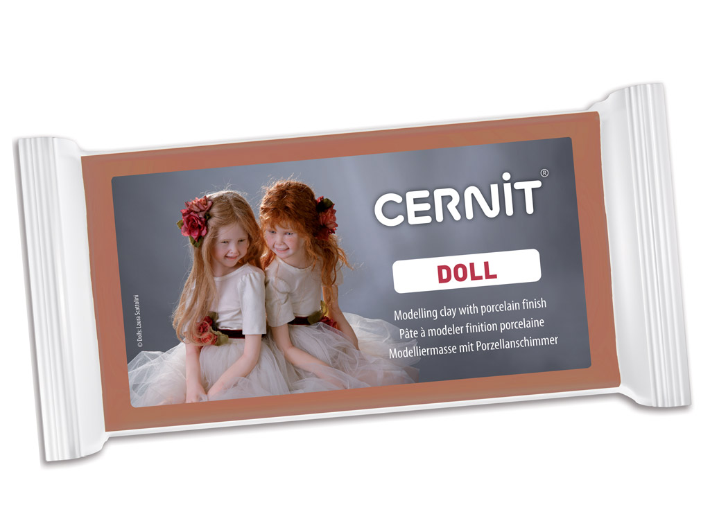 Polimerinis molis Cernit Doll 500g 807 caramel