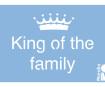 Šabloon Marabu 10x15cm King of Family