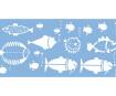 Šabloon Marabu 15x33cm Fish Family