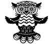 Šablonas Marabu Silhouette 15x15cm Flying Owl