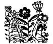 Šablonas Marabu Silhouette 15x15cm Flowerbed