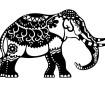 Šablonas Marabu Silhouette A4 Indian Elephant