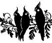 Šablonas Marabu Silhouette A4 Three Birds
