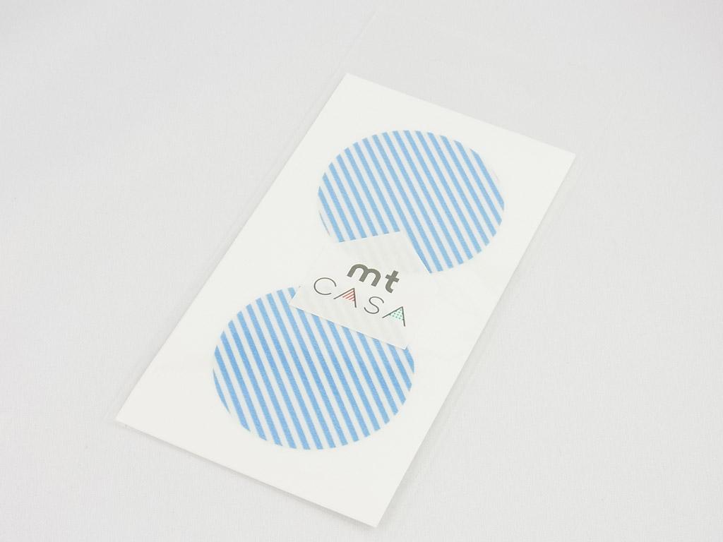 Lipdukas mt casa seal d=50mm 10vnt. stripe light blue