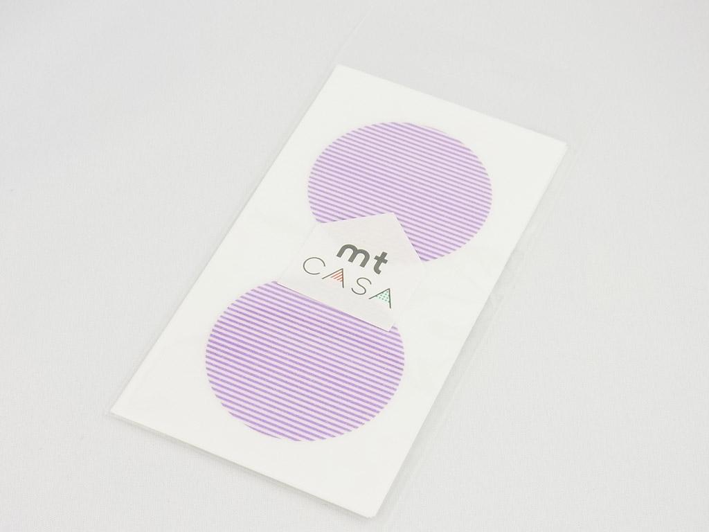 Kleebis mt casa seal d=50mm 10tk border purple