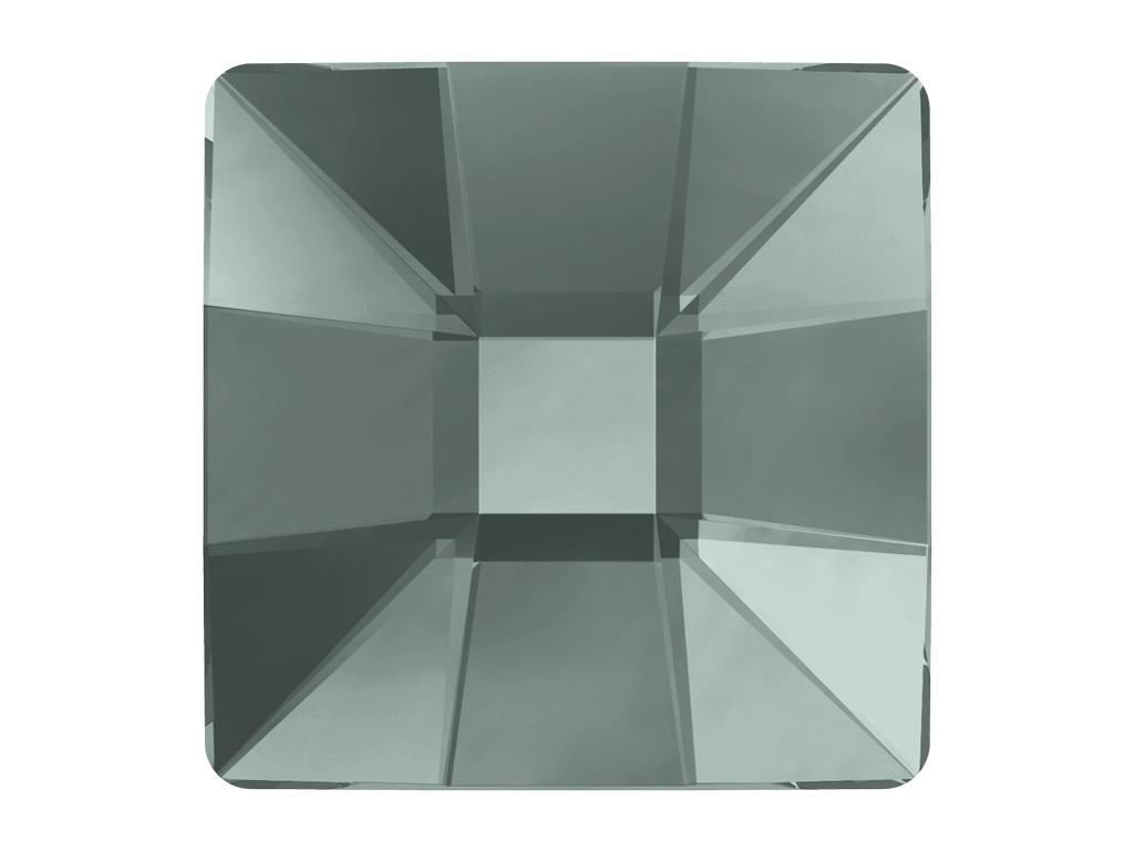 Krištolas Swarovski Flat Back Hotfix kvadratas 2483 10mm 215 black diamond