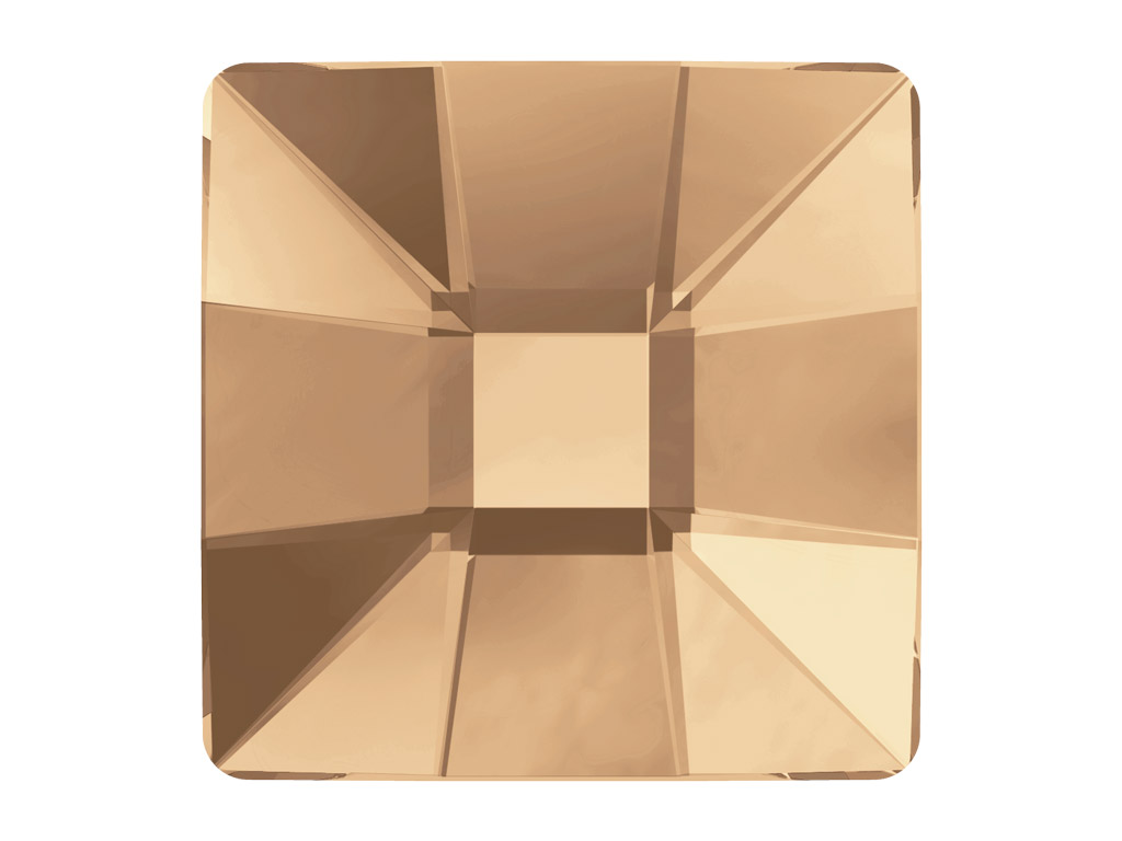 Krištolas Swarovski Flat Back Hotfix kvadratas 2483 10mm 001GSHA crystal golden shadow