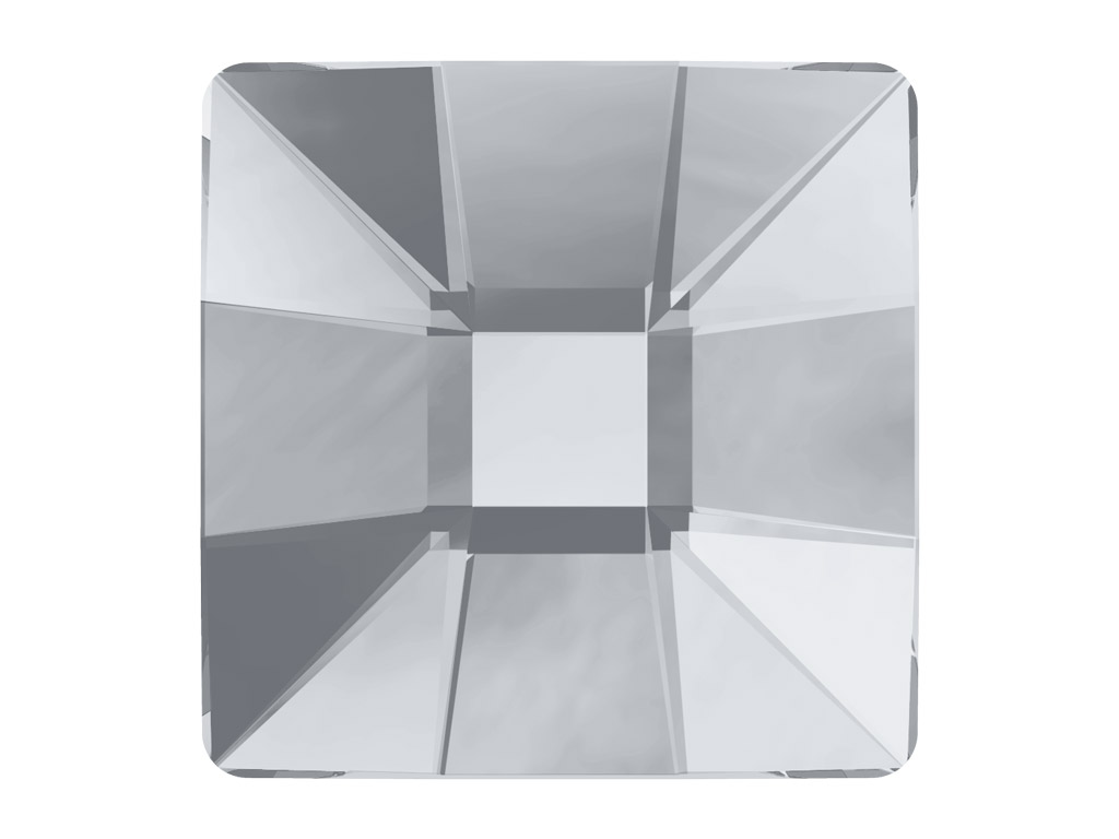 Krištolas Swarovski Flat Back Hotfix kvadratas 2483 10mm 001 crystal