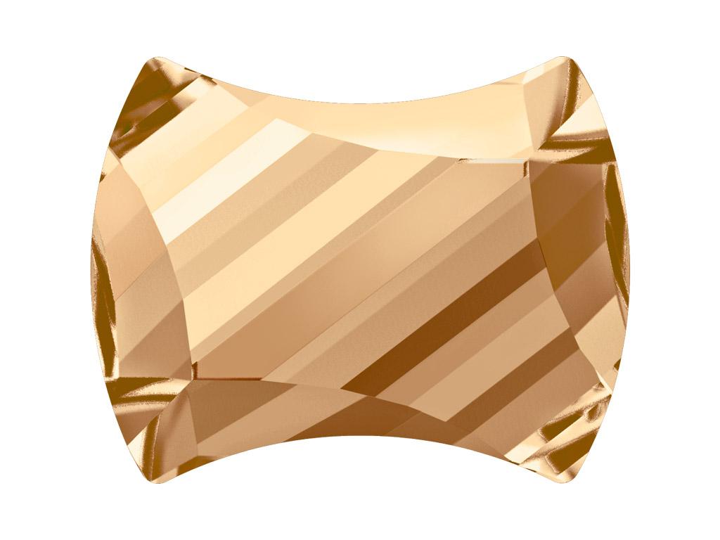 Krištolas Swarovski Flat Back Hotfix curvey 2540 12x9.5mm 001GSHA crystal golden shadow