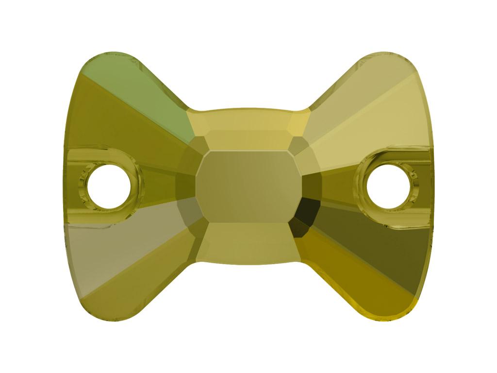 Krištolo karoliukai siuvinėjimui Swarovski varlytė 3258 12x8.5mm 001IRIG crystal iridescent green