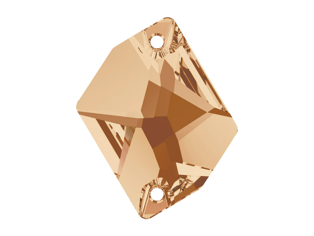 Kristallhelmes õmblemiseks Swarovski cosmic 3265 26x21mm 001GSHA crystal golden shadow