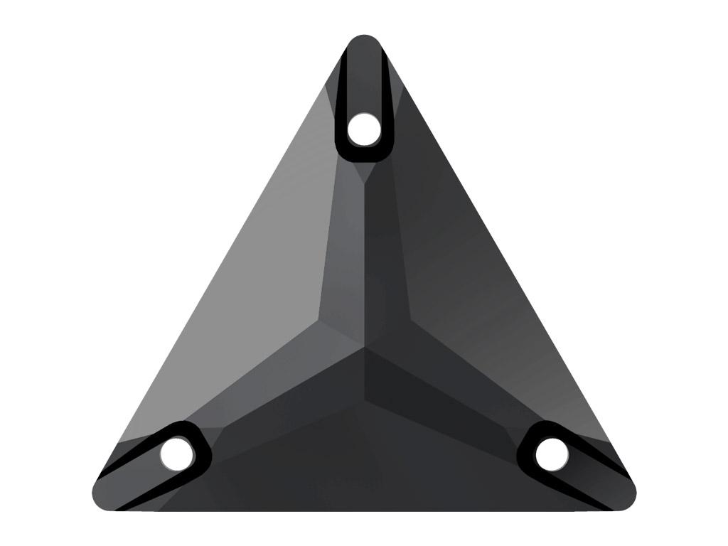 Krištolo karoliukai siuvinėjimui Swarovski trikampis 3270 16mm 280 jet
