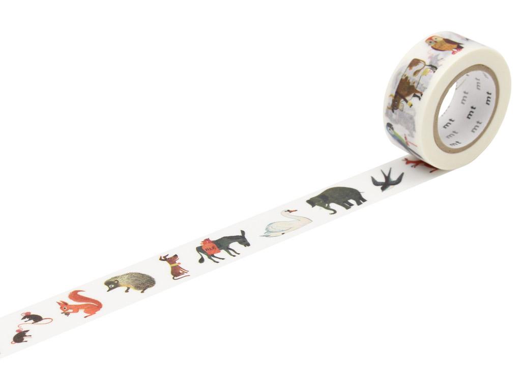 Washi dekoratyvi lipni juostelė mt Alain Gree 20mmx10m animal