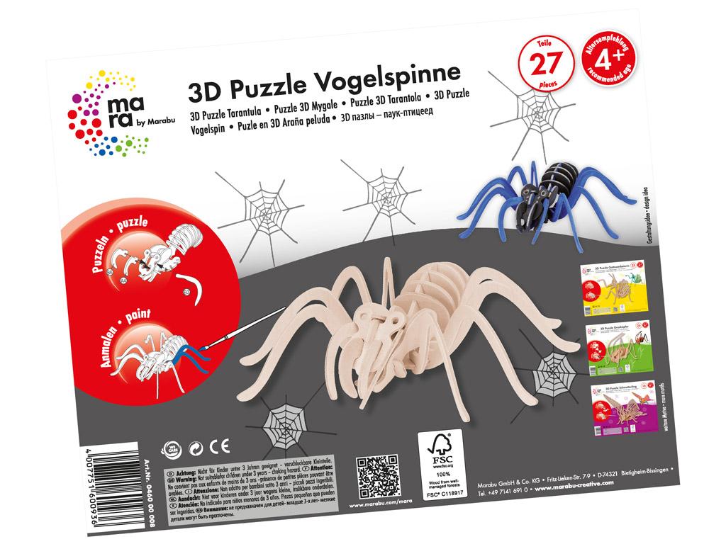 3D puzzle puidust Mara Tarantula 27 osa