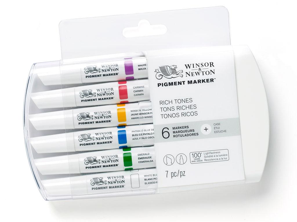 Žymeklis W&N Pigment 6vnt. rich tones
