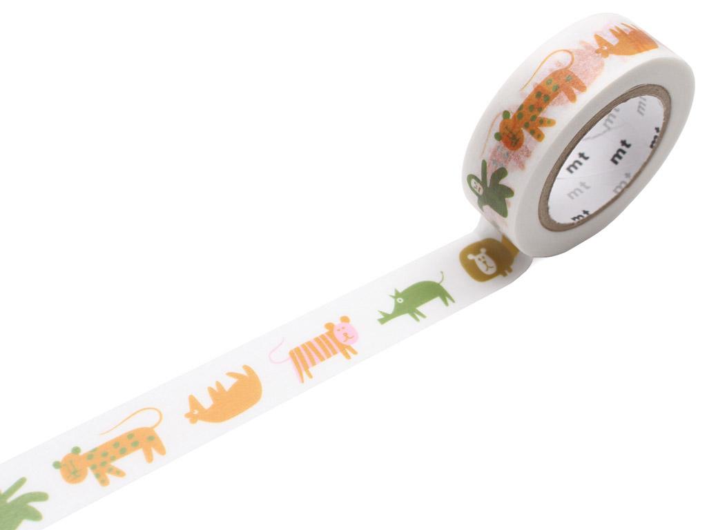 Washi dekoratyvi lipni juostelė mt Saul Bass 15mmx10m animals