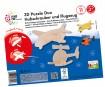3D puzzle puidust Mara Helicopter&Aeroplane 11 osa