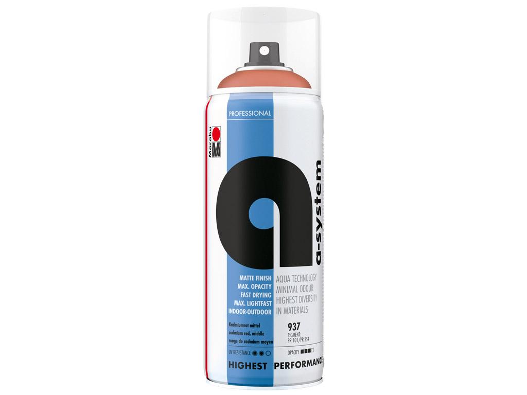 Aerozoliniai dažai a-system 400ml 937 cadmium red middle