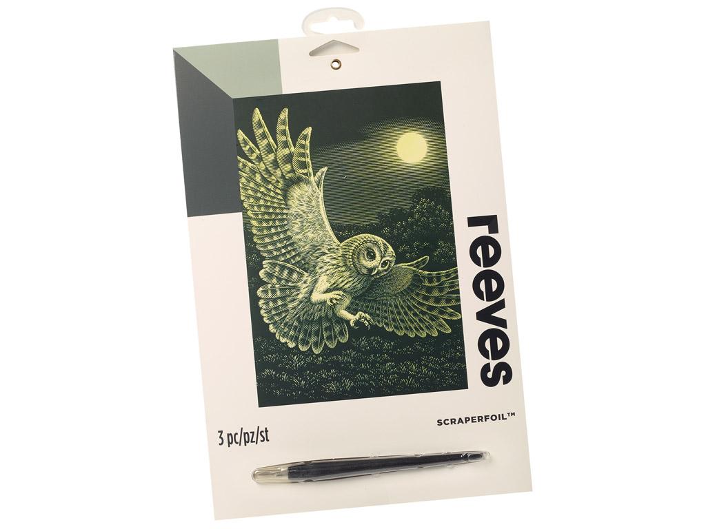 Kraapeplaat Reeves 25x20cm Gold Barn Owl