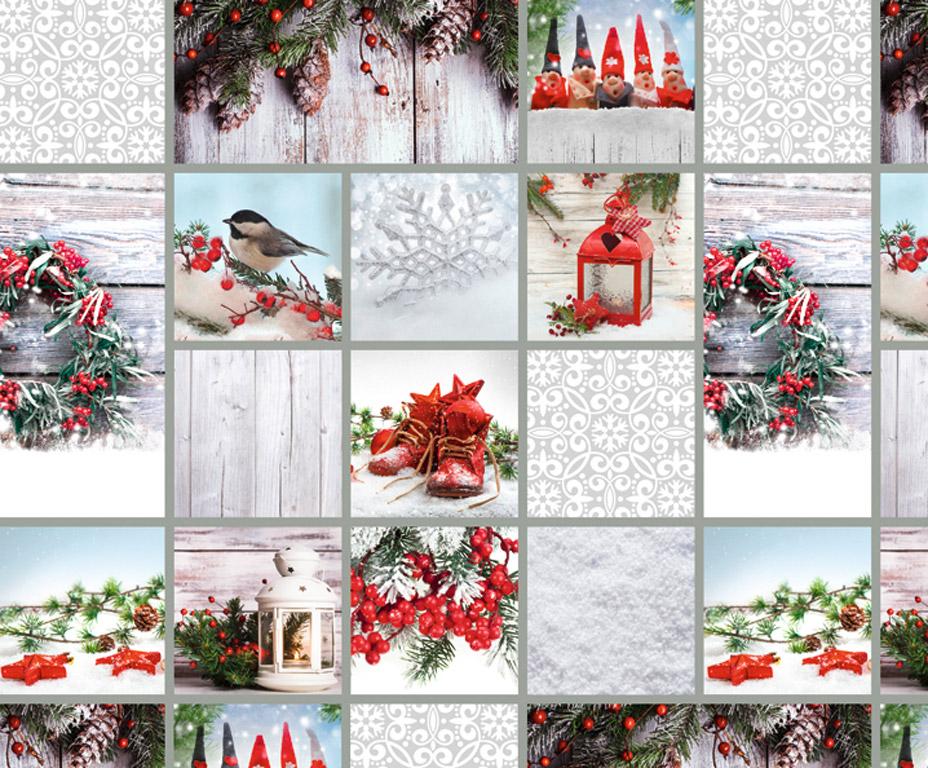 Motif photo album cardboard Ursus 49.5x68cm/300g Cottage white/red