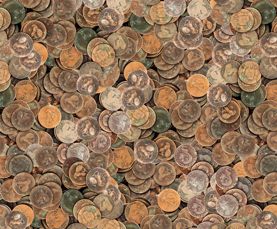 Kartong pildiga Ursus 49.5x68cm/300g Coins