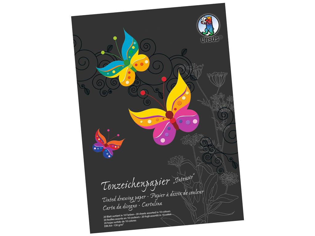 Papirs krāsainais Ursus Special Edition A4/130g 20 lapas Intensive