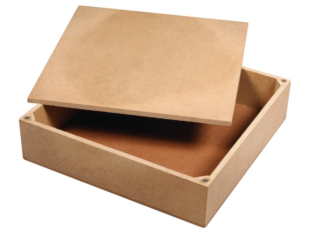 Karp MDF Rayher 17x17x4.5cm kaanega 4 magnetiga
