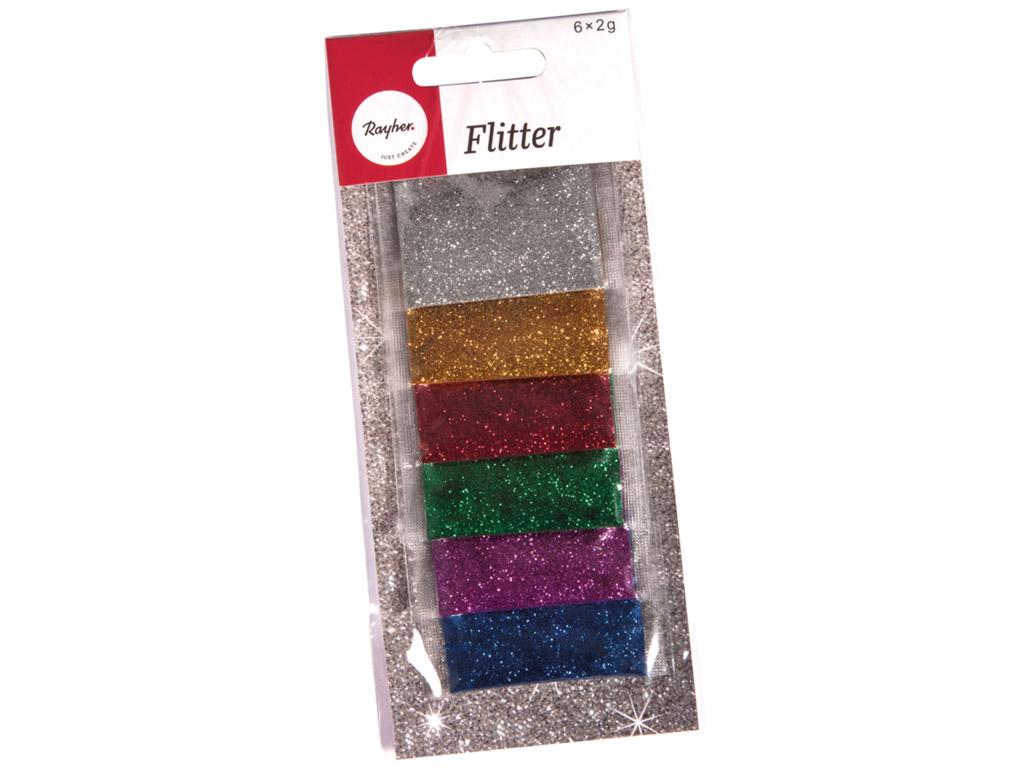 Glitter Rayher 6x2g 6 värvi assortii
