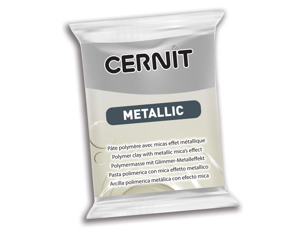 Polimerinis molis Cernit Metallic 56g 080 silver