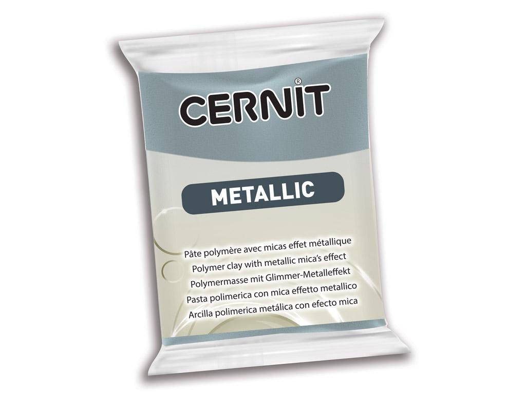 Polimerinis molis Cernit Metallic 56g 167 steel