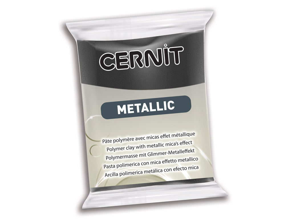 Polimerinis molis Cernit Metallic 56g 169 hematite