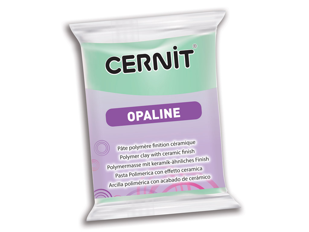 Polimerinis molis Cernit Opaline 56g 640 mint green