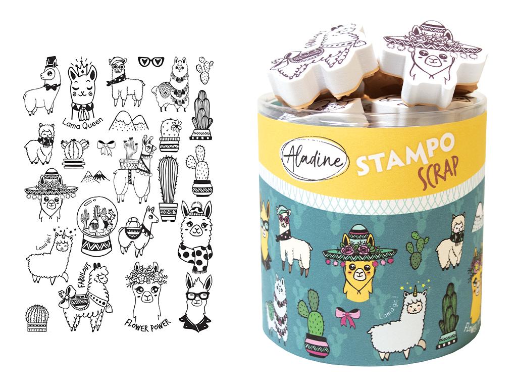 Tempel Aladine Stampo Scrap 25tk Lamas + templipadi must