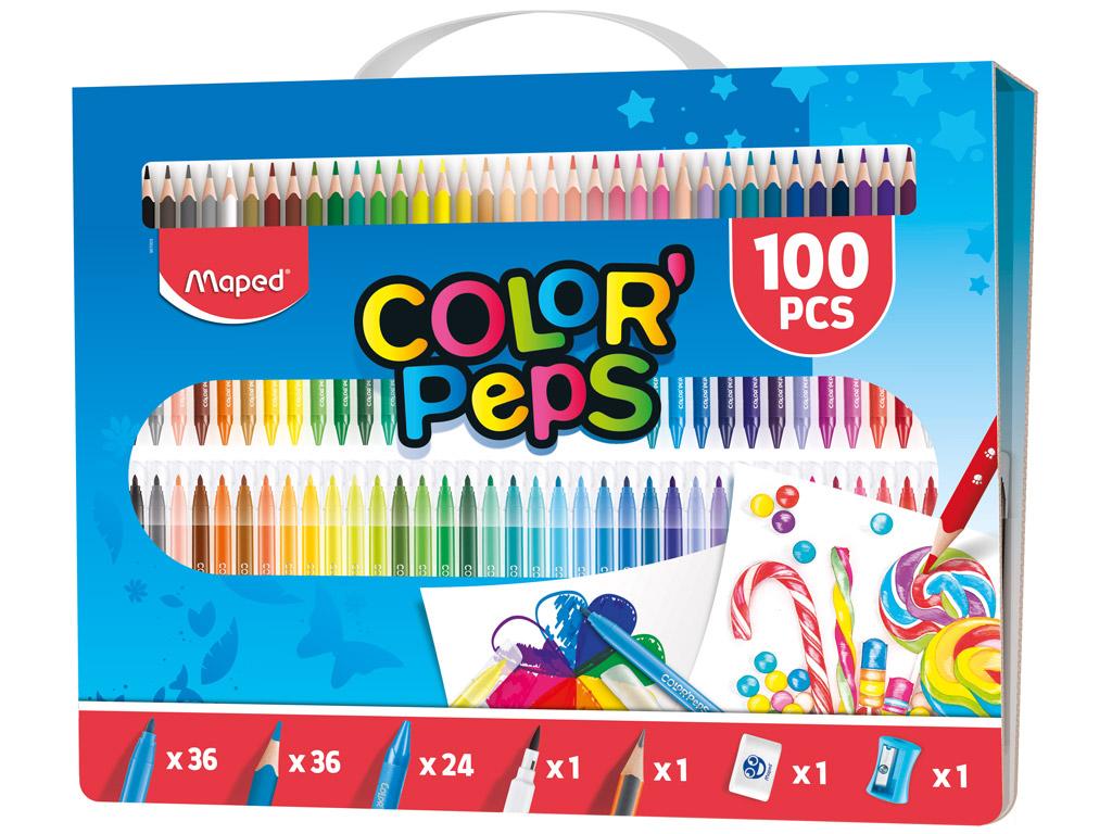 Zīmēšanas komplekts ColorPeps 100gab.