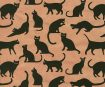 Lokta Paper A4 Printed Cats Black on Light Coral