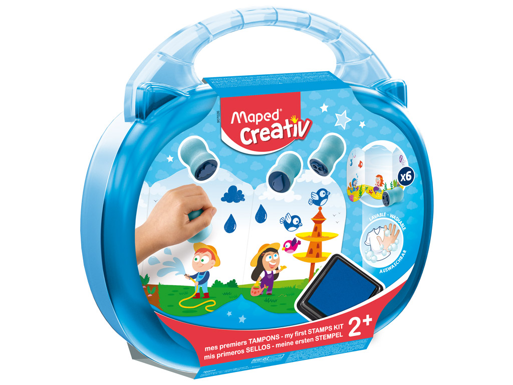 Stamps kit Maped Creativ Early Age in plastic case