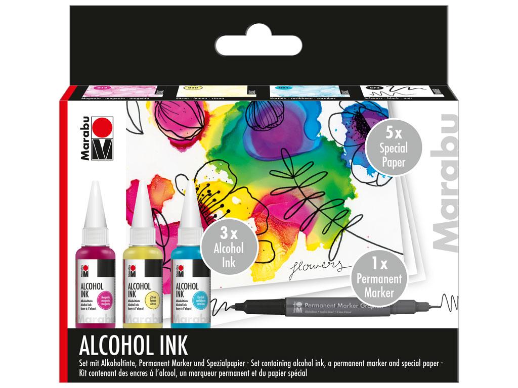 Alcohol ink set Marabu Flowers