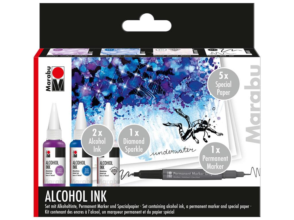 Alcohol ink set Marabu Underwater