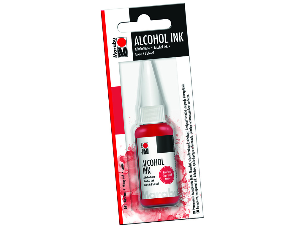 Alkoholitint Marabu 20ml 031 cherry red blistril