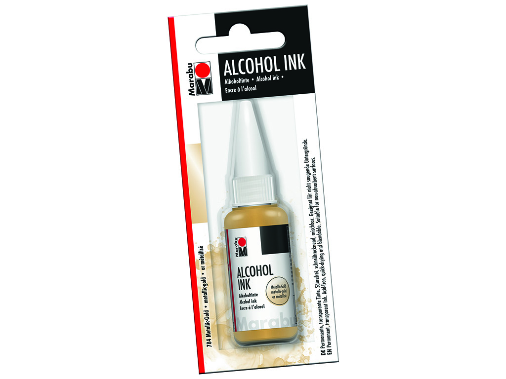 Alkoholitint Marabu 20ml 784 metallic-gold blistril