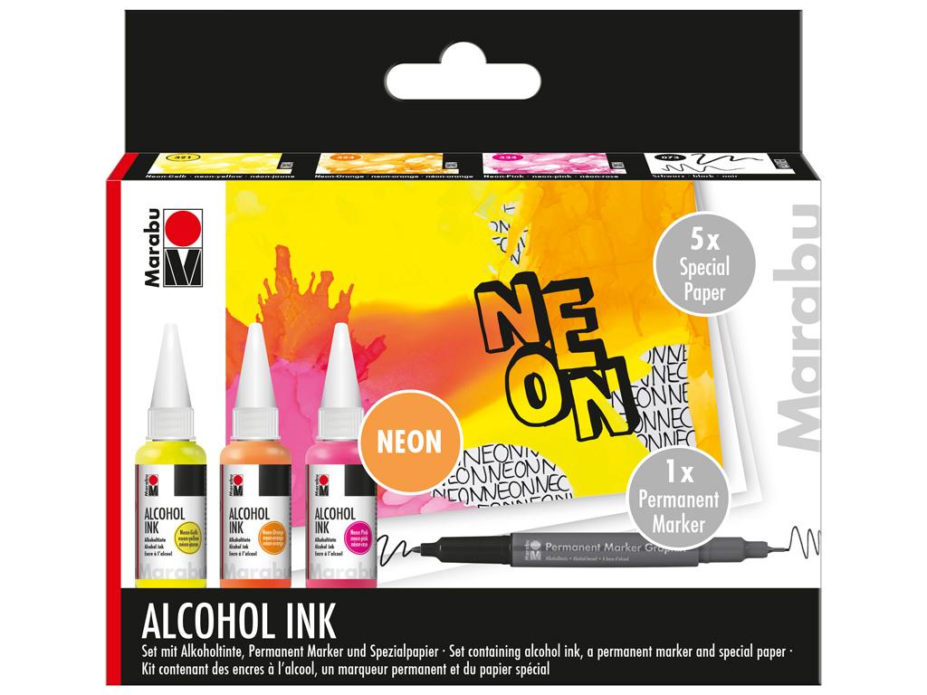 Alcohol ink set Marabu Neon