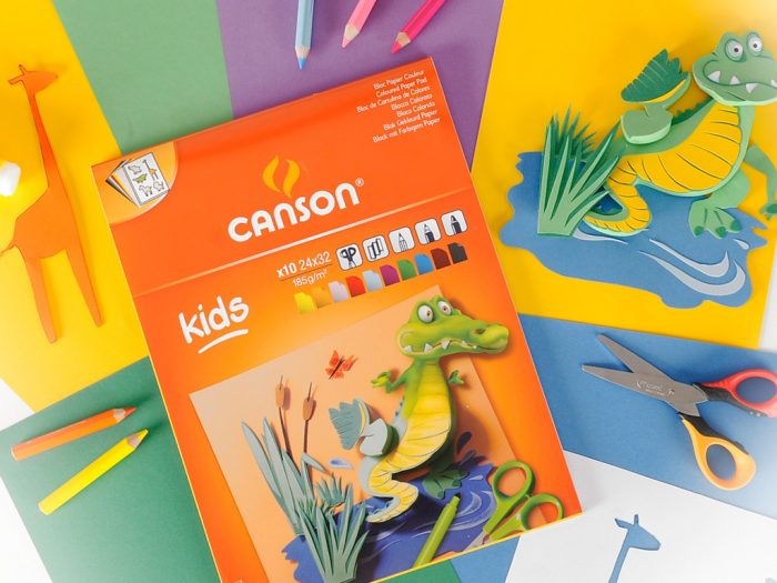 Värvilise kartongi plokk Canson Kids