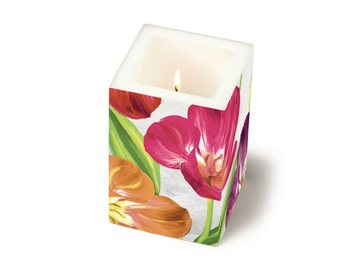 Žvakė Paper+Design kvadratas 8x8x12cm