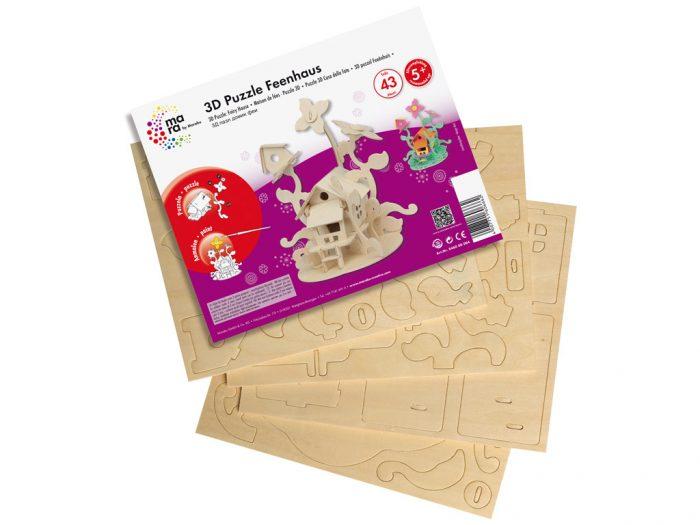 3D puzzle puidust Marabu Kids majad - 1/3