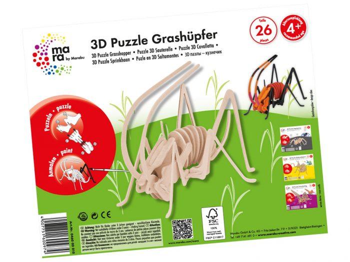 3D puzzle puidust Marabu Kids putukad - 1/3