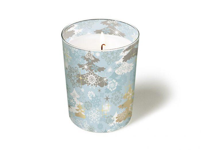Žvakė stiklinėje Paper+Design apvali d=8.5cm h=10cm žiema/Kalėdos