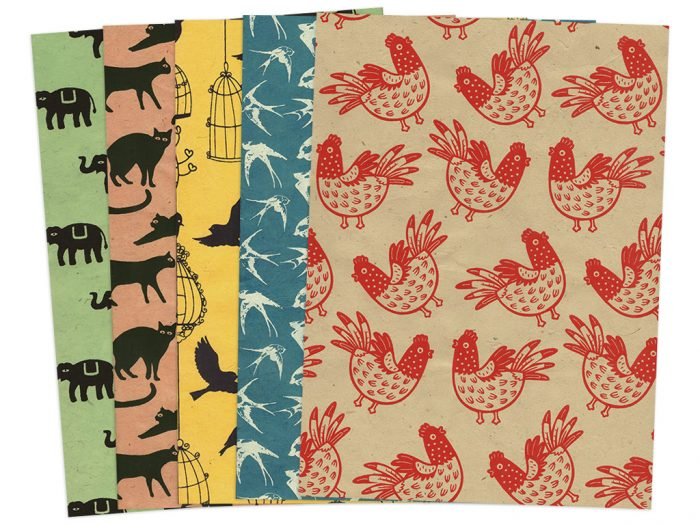Lokta Paper A4 birds and animals - 1/5